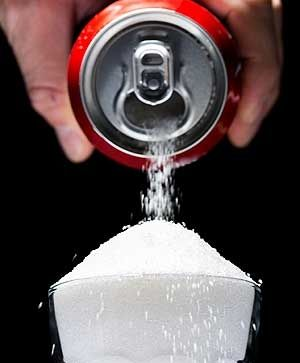 There are 40g of sugar in a 375ml serving of Coca-Cola.