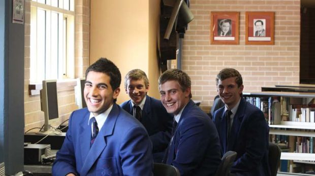 Nicholas Saady and fellow Ancient History students at Marcellin College.