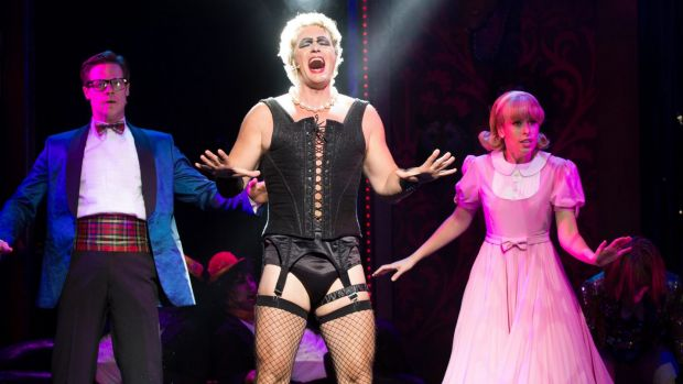Craig McLachlan, centre, performing in Rocky Horror Show in 2015.