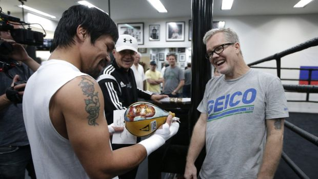 Special bond:  Manny Pacquiao and his trainer Freddie Roach.
