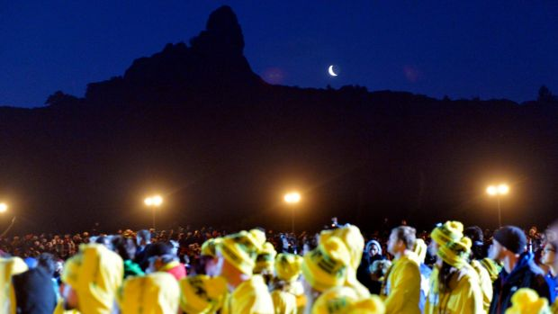 Dawn service at Gallipoli, 2014: Visitors to this year's Anzac services will pass through several security checks.