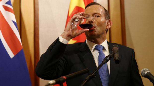 "Tony Abbott admits Australia's policies towards China are driven by two emotions: ""fear and greed""."