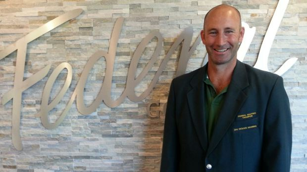 Winner of the Federal Golf Club Masters Monday, Antony York. York won the Green Jacket in a four-way playoff.