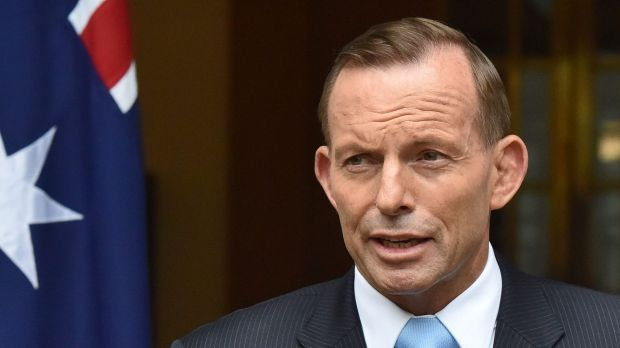 Leading by example: Tony Abbott at Parliament