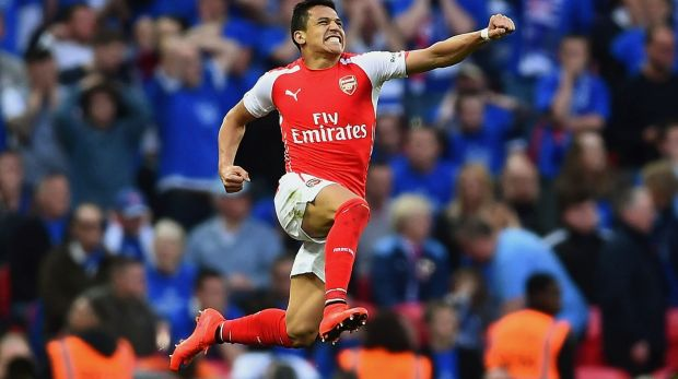 Keeping his eye on the prize: Arsenal's Alexis Sanchez.