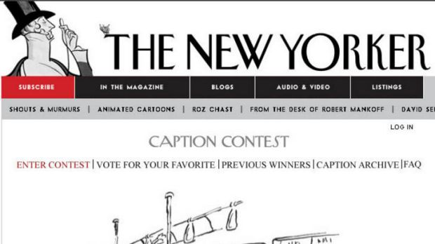 The New Yorker Magazine cartoon caption competition.