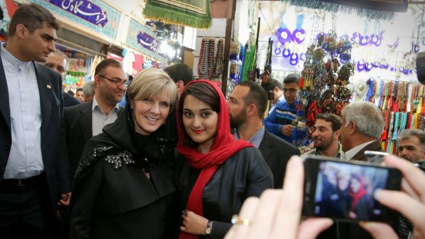 News spread quickly of Foreign Minister Julie Bishop's trip to a bazaar in Tehran in April, where western politicians ...