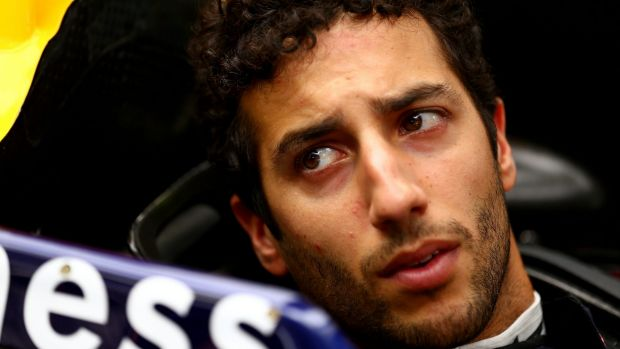 Realistic: Ricciardo tried his best to be upbeat as he talked about his prospects at Albert Park.