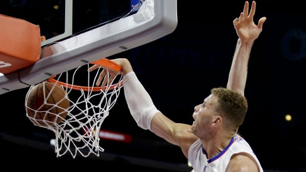 Sidelined: Los Angeles Clippers forward Blake Griffin dunks.