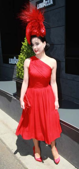 Lady in red ... Dita Von Teese.
