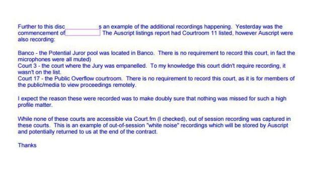 Emails within the Queensland Department of Justice and Attorney General reveal concerns over court recordings by private ...