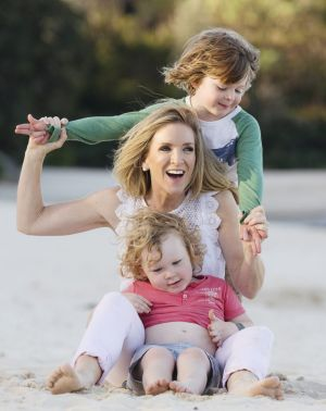 Jacinta Tynan with her boys Jasper and Otis. She was rejected for many apartments because she was a single mother with ...