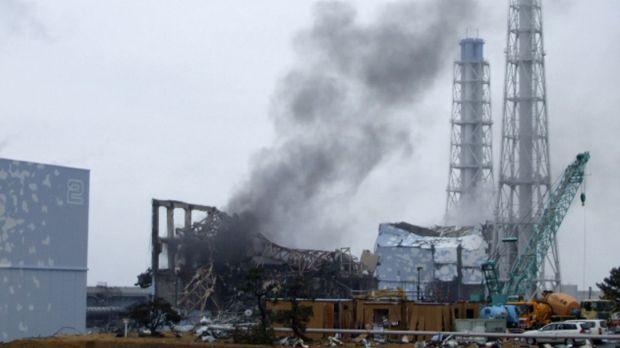 Smoke is seen coming from the area of the No. 3 reactor of the Fukushima Daiichi nuclear power plant in 2011.