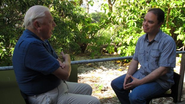 John Cook from UQ's Global Change Institute interviews Sir David Attenborough for a segment in their 'Making Sense of ...