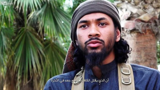 Neil Prakash in an Islamic State propaganda video.
