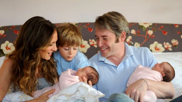 """I like an interesting life"" ... Sarah Jessica Parker with husband, Matthew Broderick and children."