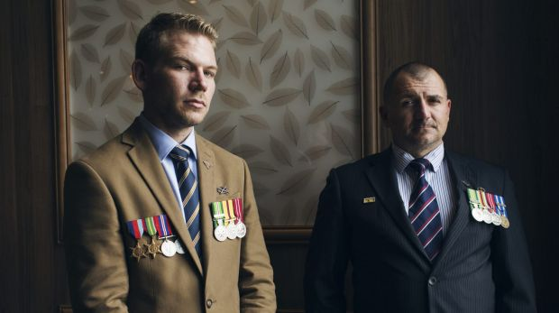 Veterans Peter Mullaly and Lee Sarich have spoken of the effects of military service.