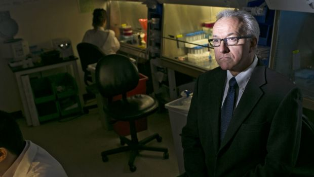 Dr. George Daley, a stem cell researcher, in his lab at Boston Children's Hospital. He opposes the experiment in gene ...