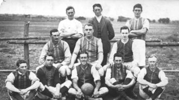 The 1913 photograph of the Irymple Football Club.