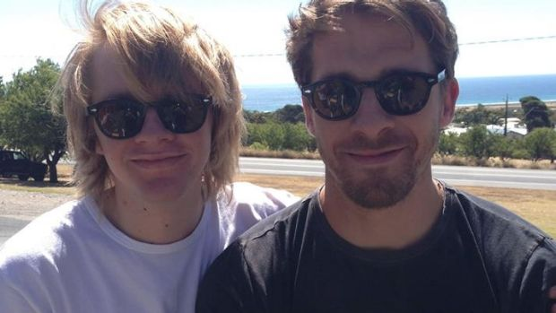 Zachary Sheridan, left, with brother Hugh, has reportedly made contact with his family.