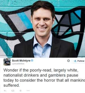 SBS reporter Scott McIntyre wrote himself out of a job.