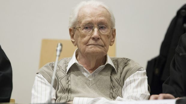 Former Nazi guard Oskar Groening is on trial for being accomplice to the murder of 300,000 people.