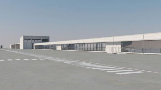 An artist's impression of the  domestic terminal expansion at Brisbane Airport.