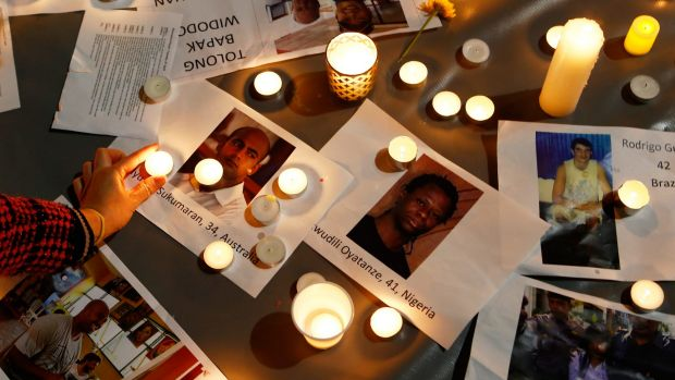 A vigil was held in Martin Place in Sydney on Tuesday night.