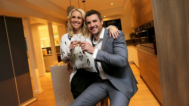 Darren and Dee Jolly celebrate their win on <i>The Block Triple Threat</i> in April.