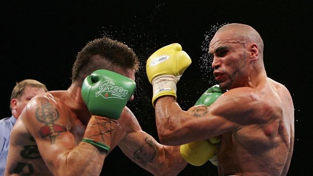 Anthony Mundine emerged triumphant when he and Danny Green squared off in Sydney in 2006.