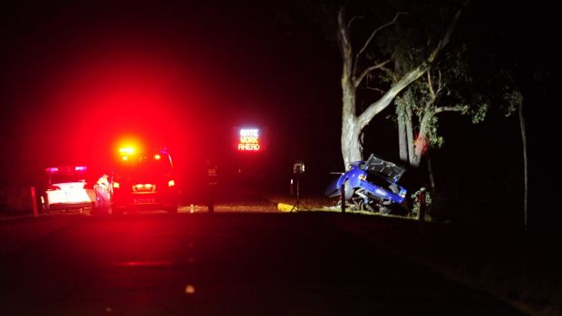 The scene of the fatal crash on Stockdill Drive in Holt.
