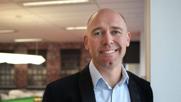 MYOB chief executive Tim Reed says about 75 per cent of the company's shares went to institutional investors from local ...