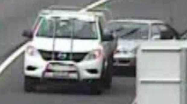 Police want to speak to the driver of this white ute. They believe missing woman Mihiata Bruce got into the car after a ...