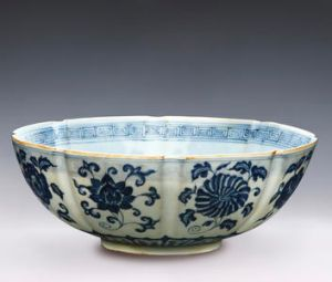 A Ming Dynasty porcelin bowl from Dr Chau's collection.
