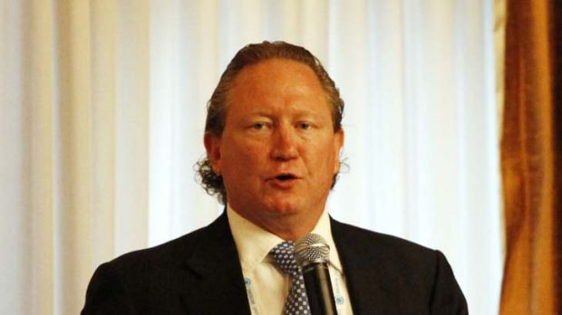 Rigged ... the chief executive of Fortescue Metals Group, Andrew Forrest, claimed the mining tax was negotiated to suit ...