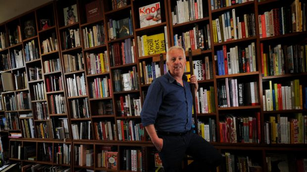 Chris Redfern of Albert Park's Avenue bookstore finds business is picking up despite the growth of online book buying.
