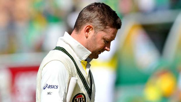 Michael Clarke ... scored two in his second innings.