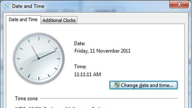 Capturing the palindrome ... 11.11am on 11.11.11.