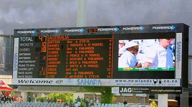 Where did it all go wrong? ... Australia only just avoided posting the lowest Test score ever.