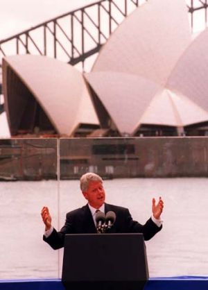 Bill Clinton ... in Sydney in 1996.
