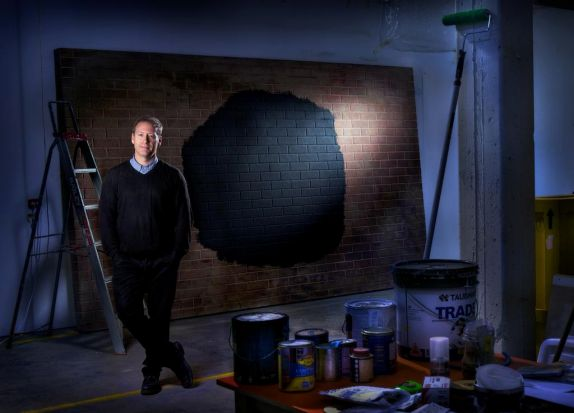 Artist, Callum Morton in his West Melbourne Studio.