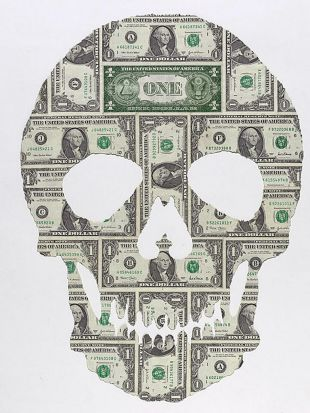 Works by Artist Fiona Hall - 21st Century Man, 2011 US Dollars, a series of 25 unique works (Installation)