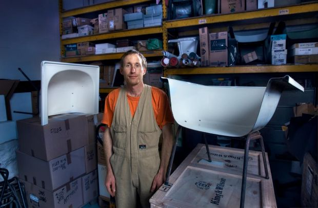 Artist - STUART RINGHOLT in his Northcote studio.