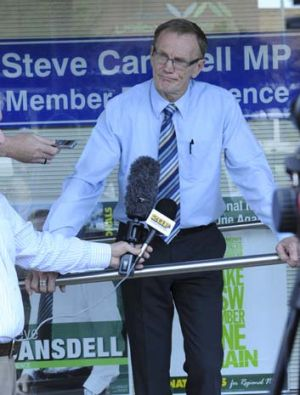 Disgraced ... Steve Cansdell.