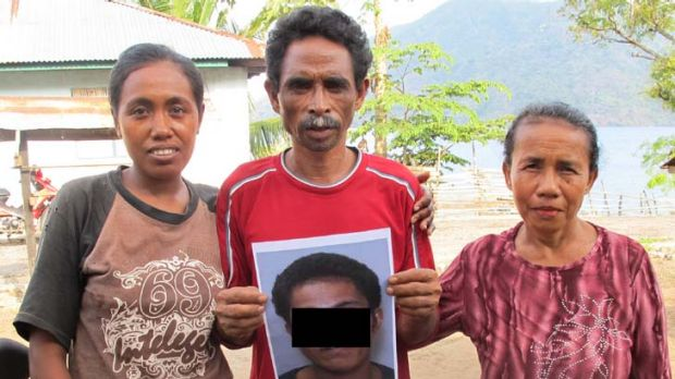 Injustice … the sister, uncle and aunt of an Indonesian orphan who was wrongfully held in detention for two years ...