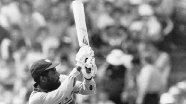 """[Viv] Richards will not wear a helmet; he will not give the bowler that much credit."""