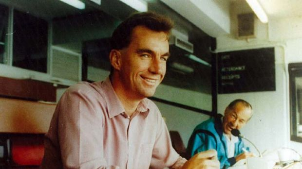Watching from the press box in 1993 ... Peter Roebuck.