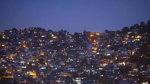 Silent night ... the Rocinha favela was invaded in a pre-dawn raid as part of operations to make the city secure against ...