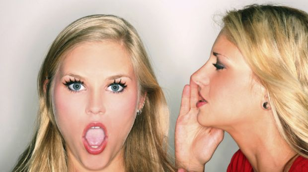 Fighting words ... gossip is a woman's preferred weapon, says book.