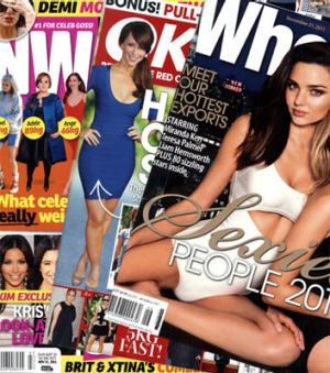 The gossip mags ... <em>NW</em>, <em>OK</em> and <em>Who</em>.